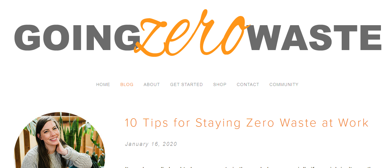 going zero waste blog